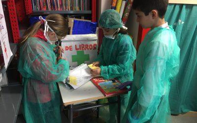 Hospital de libros en la biblioteca