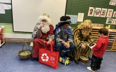 Sus Majestades Los Reyes Magos de Oriente han visitado el Colegio